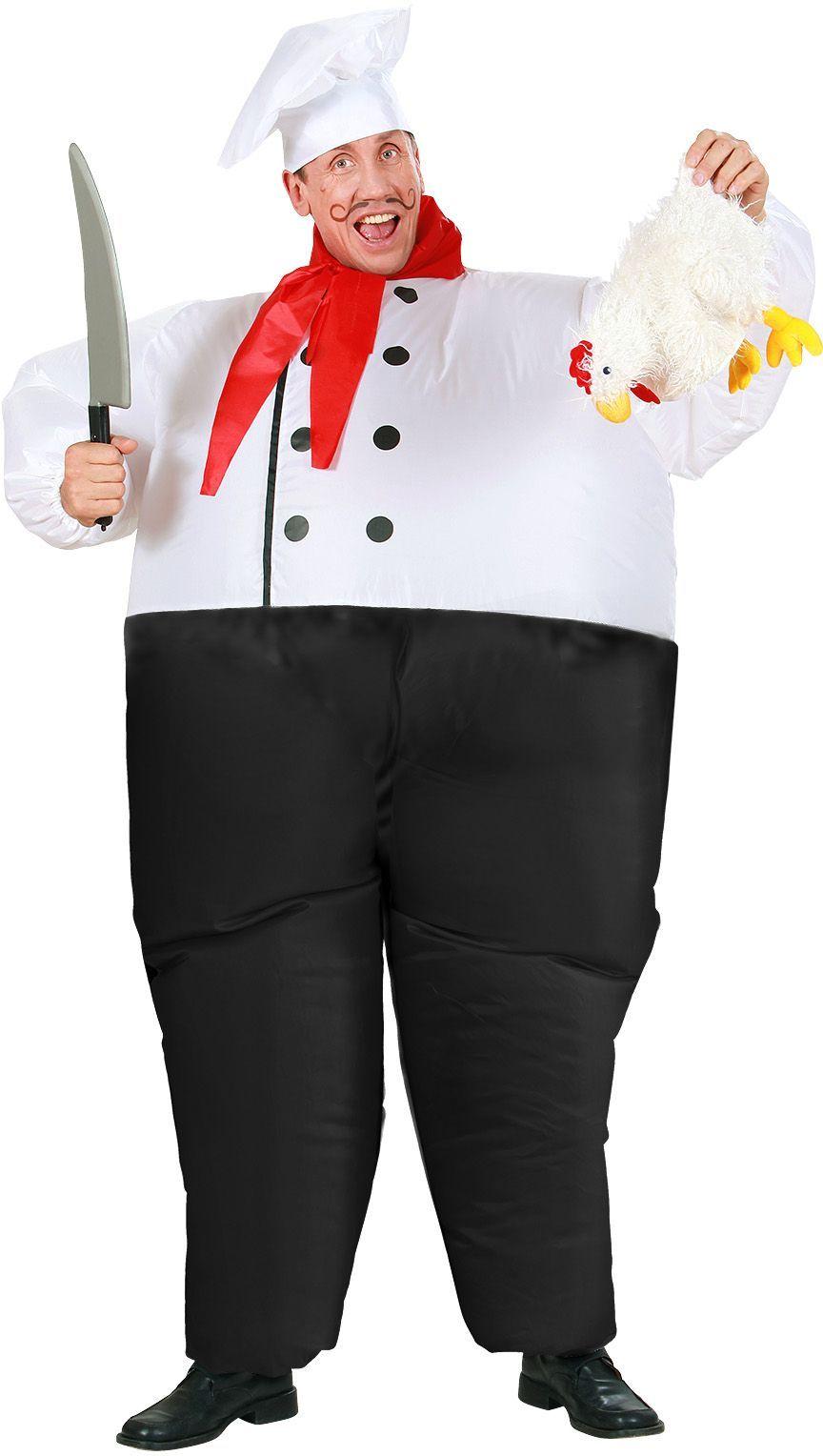 Opblaasbaar chef kok pak