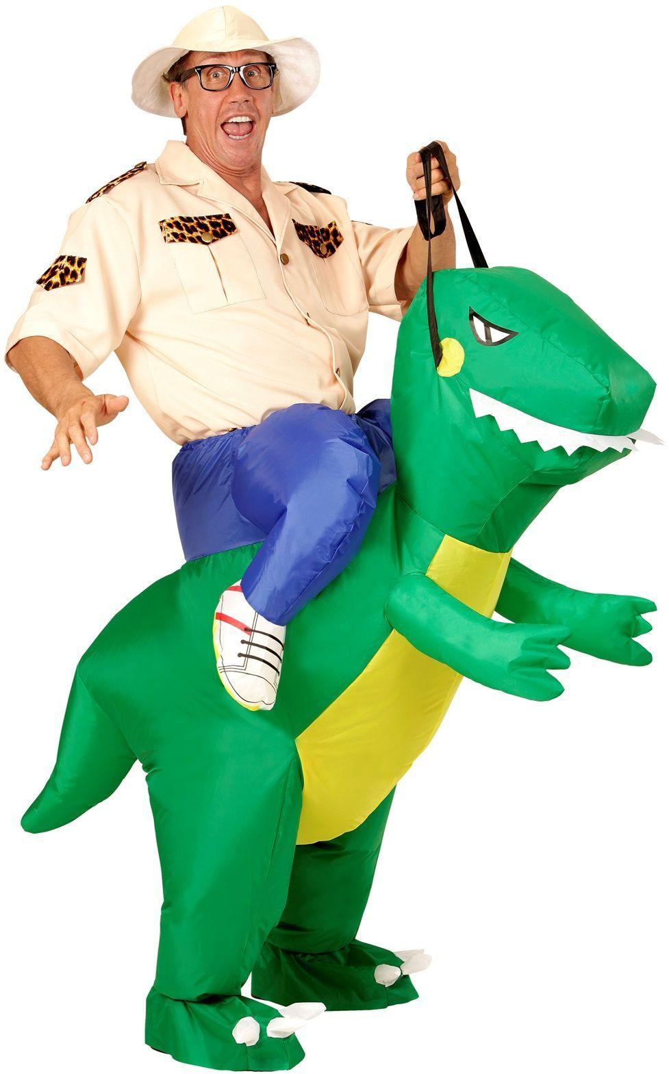 Opblaasbaar dinosaurus pak