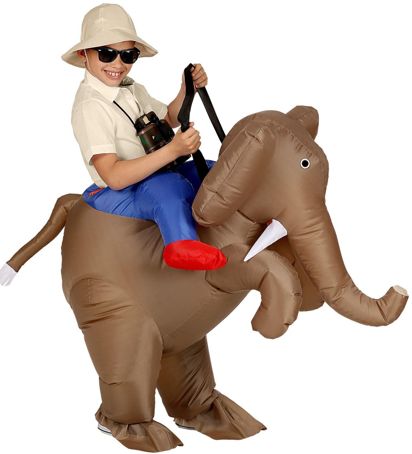 Opblaasbaar kostuum olifant kind