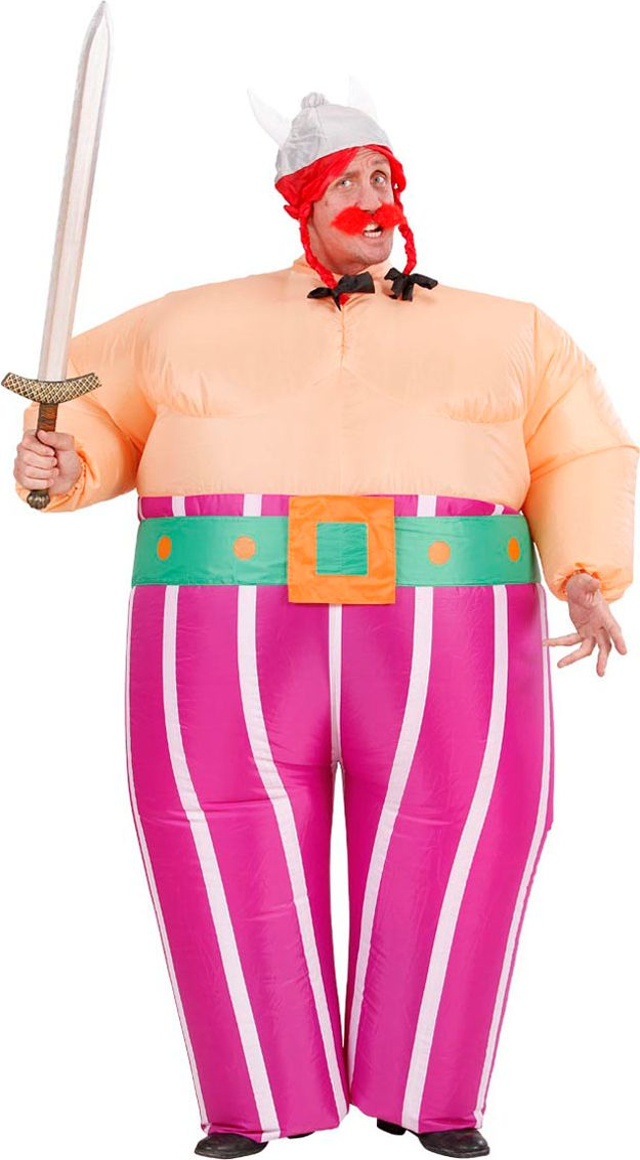 Opblaasbaar Obelix pak