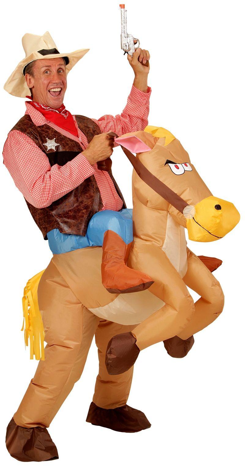 Opblaasbaar paard pak