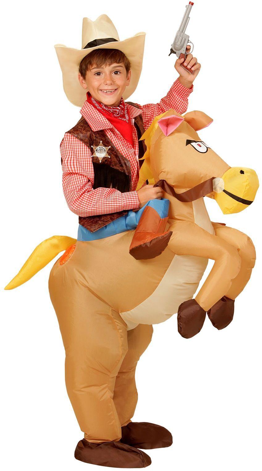 Opblaasbaar paard pak kind