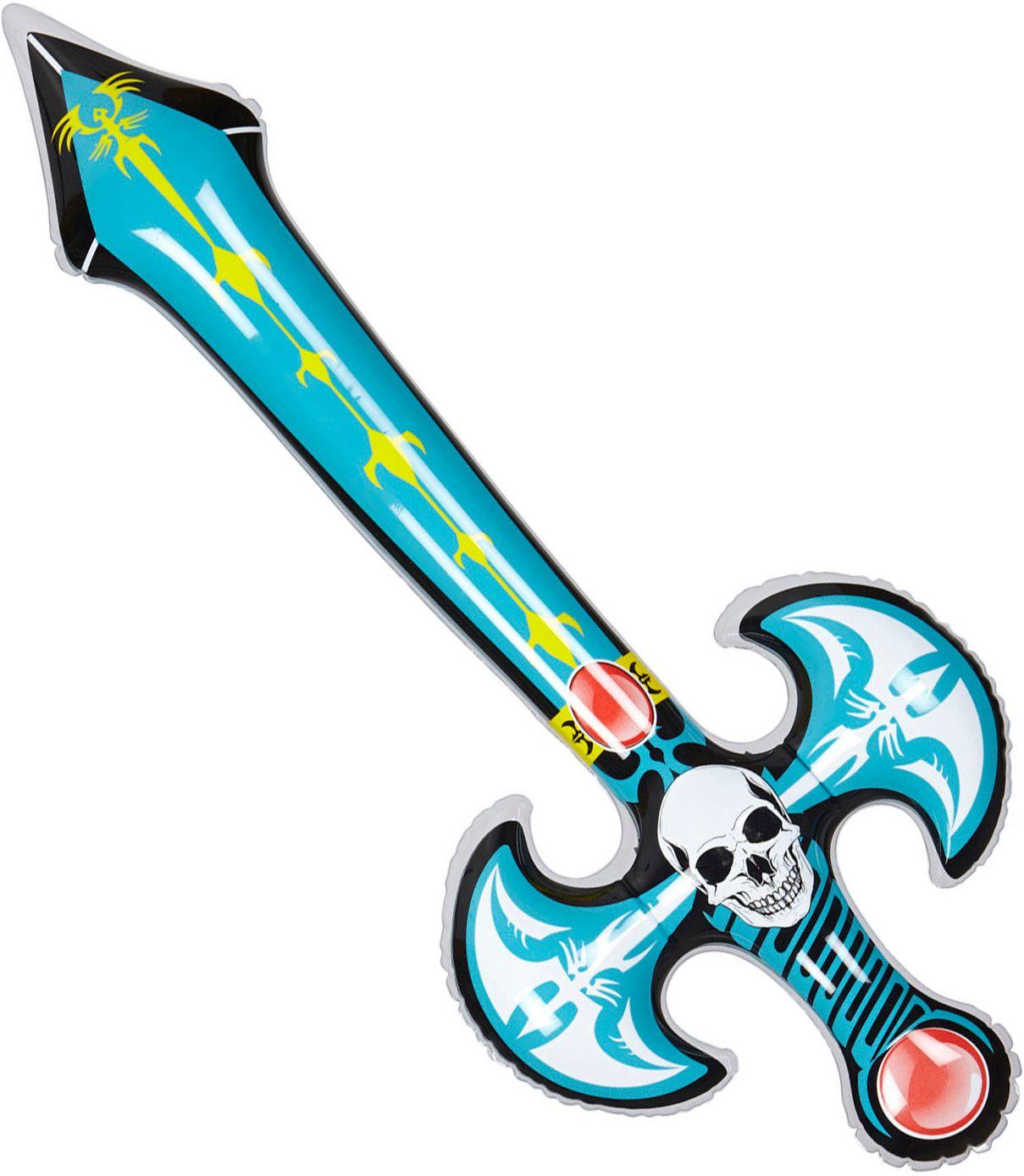 Opblaasbaar zwaard schedel