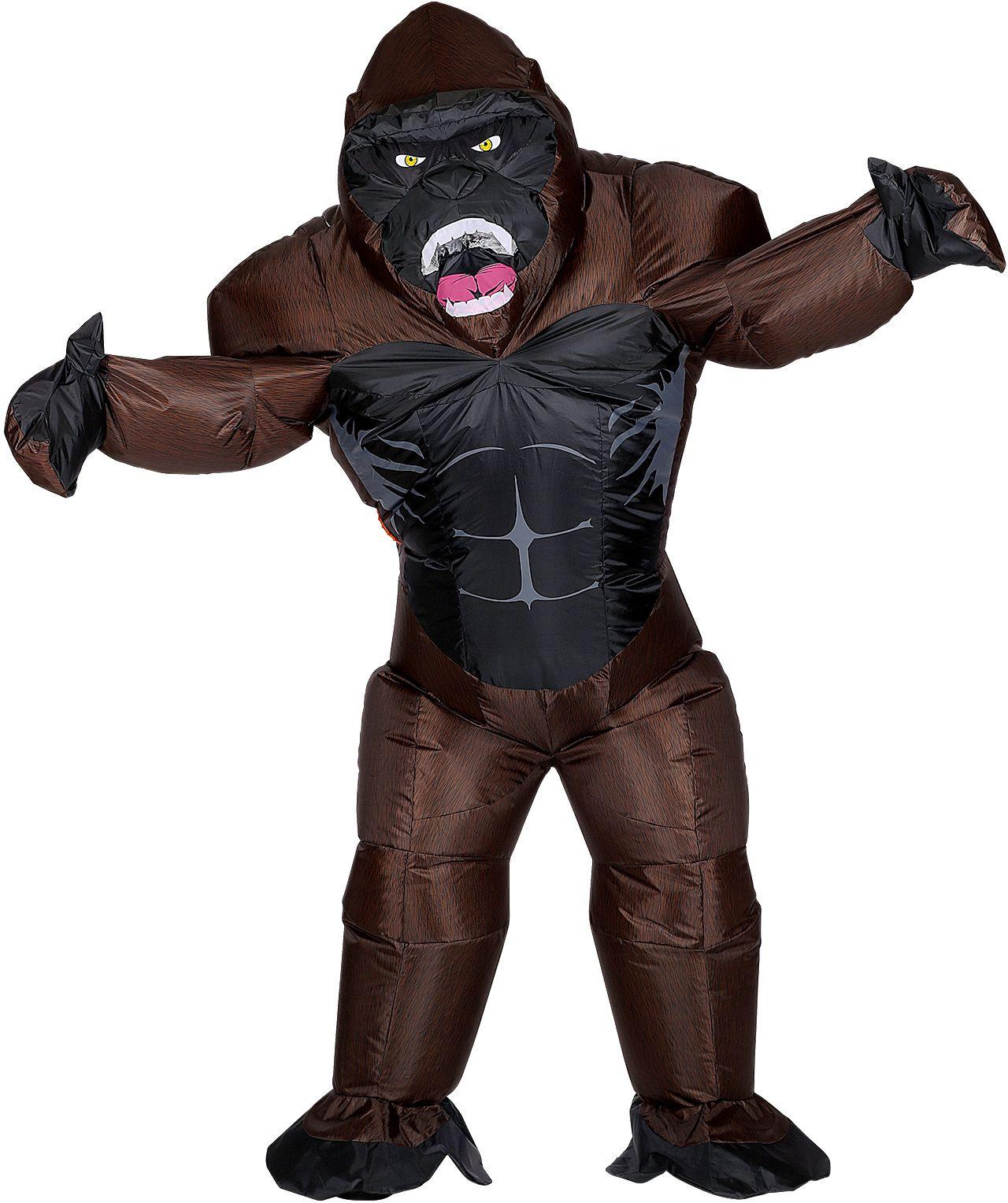 Opblaasbare gorilla outfit