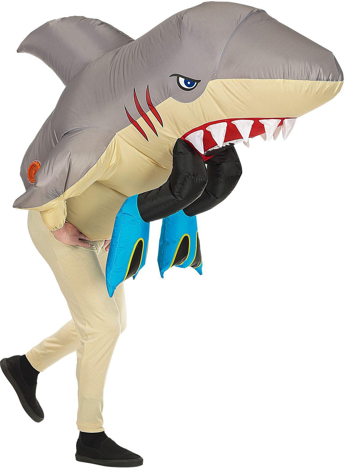Opblaasbare haai onesie