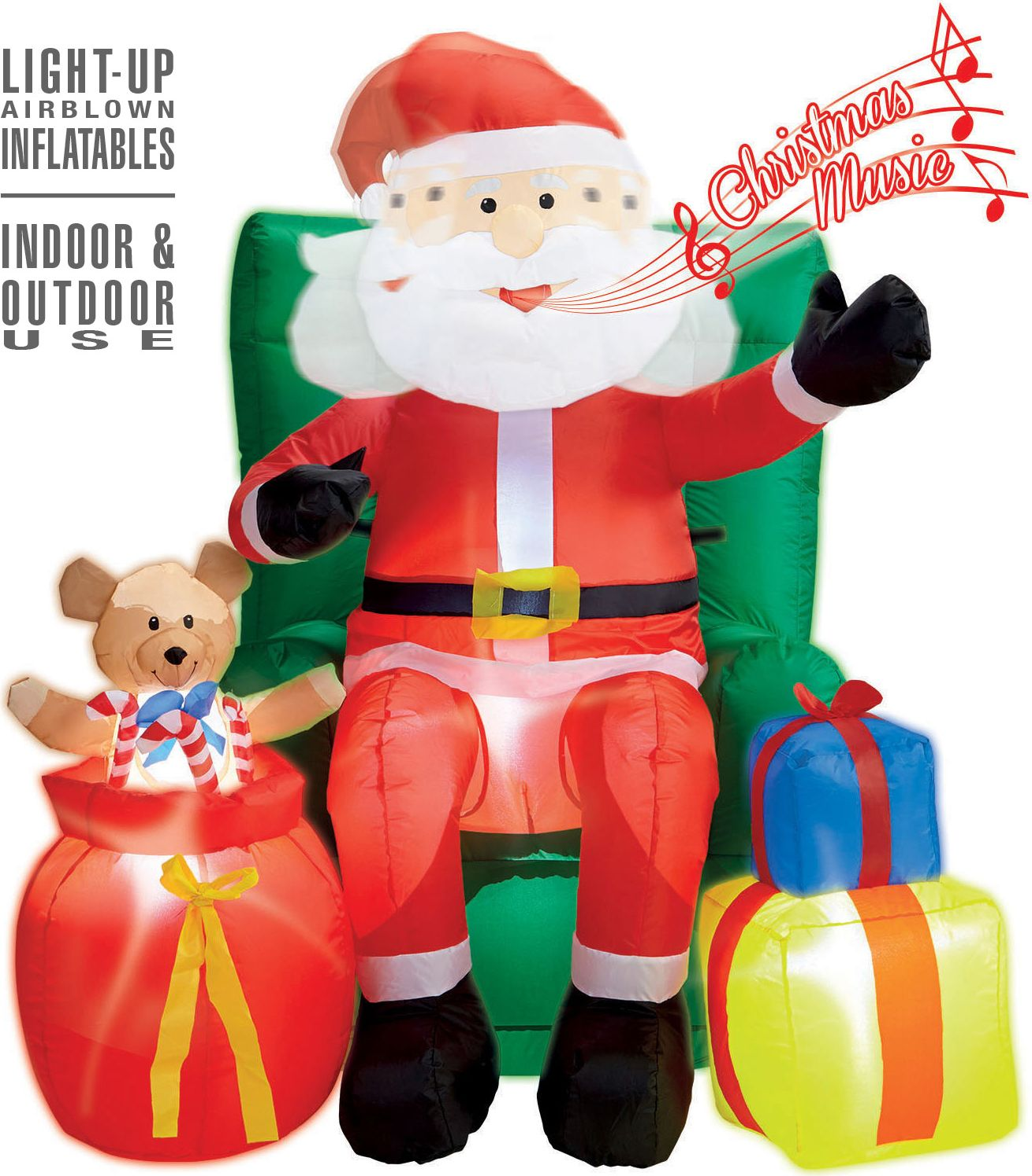 Opblaasbare kerstman decoratie