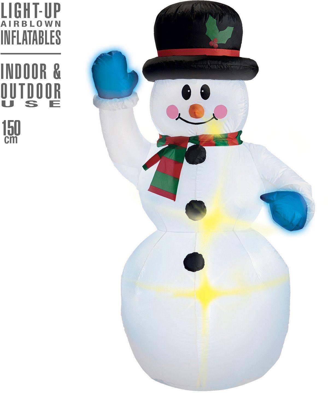 Opblaasbare sneeuwpop decoratie