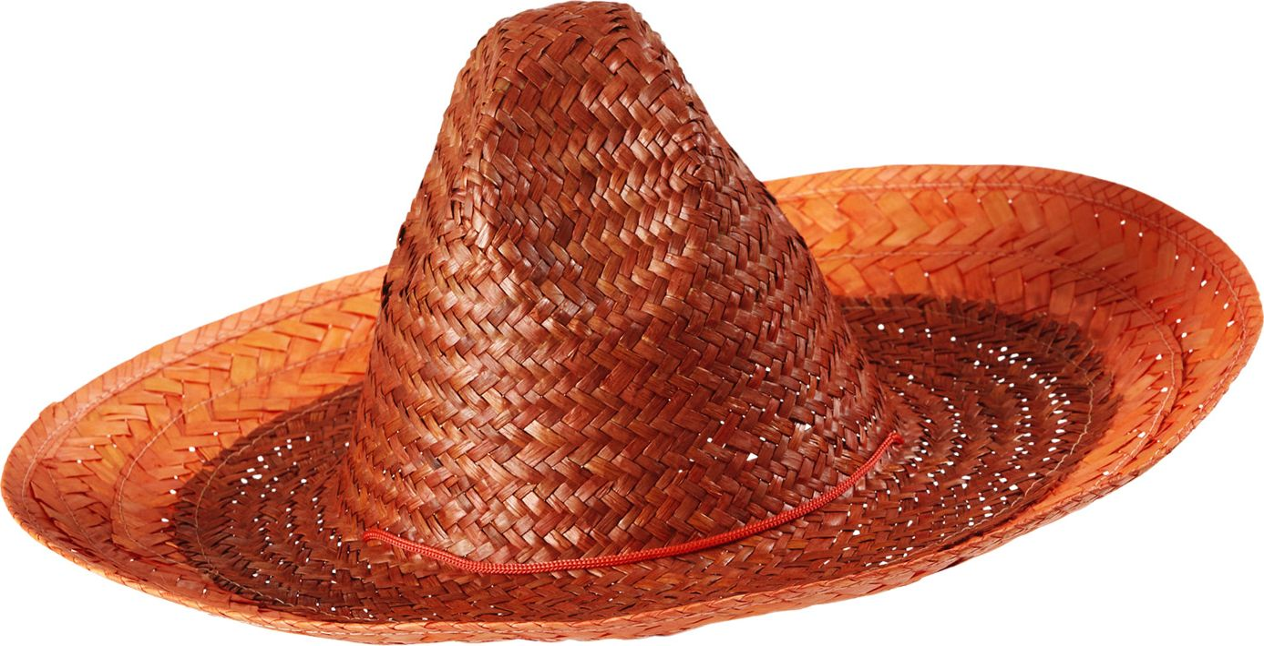 Oranje mexicaanse sombrero