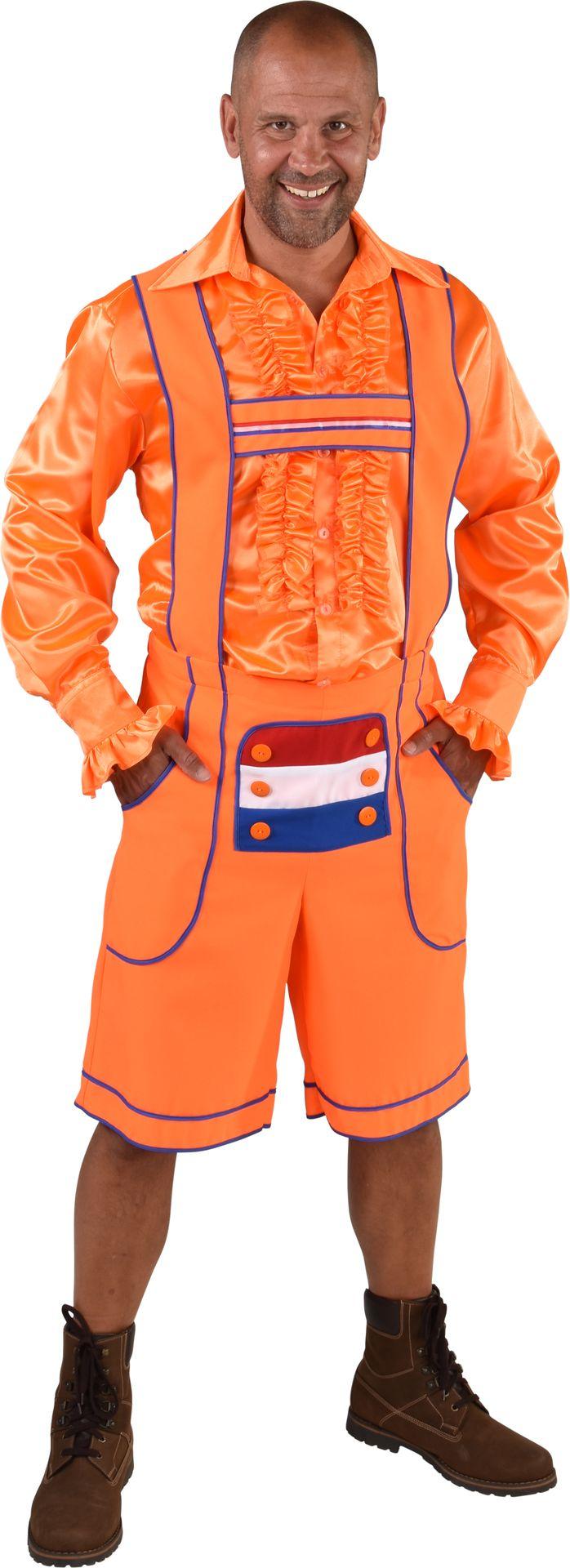 Oranje oktoberfest broek mannen