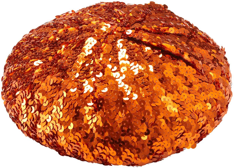 Oranje pailletten baret