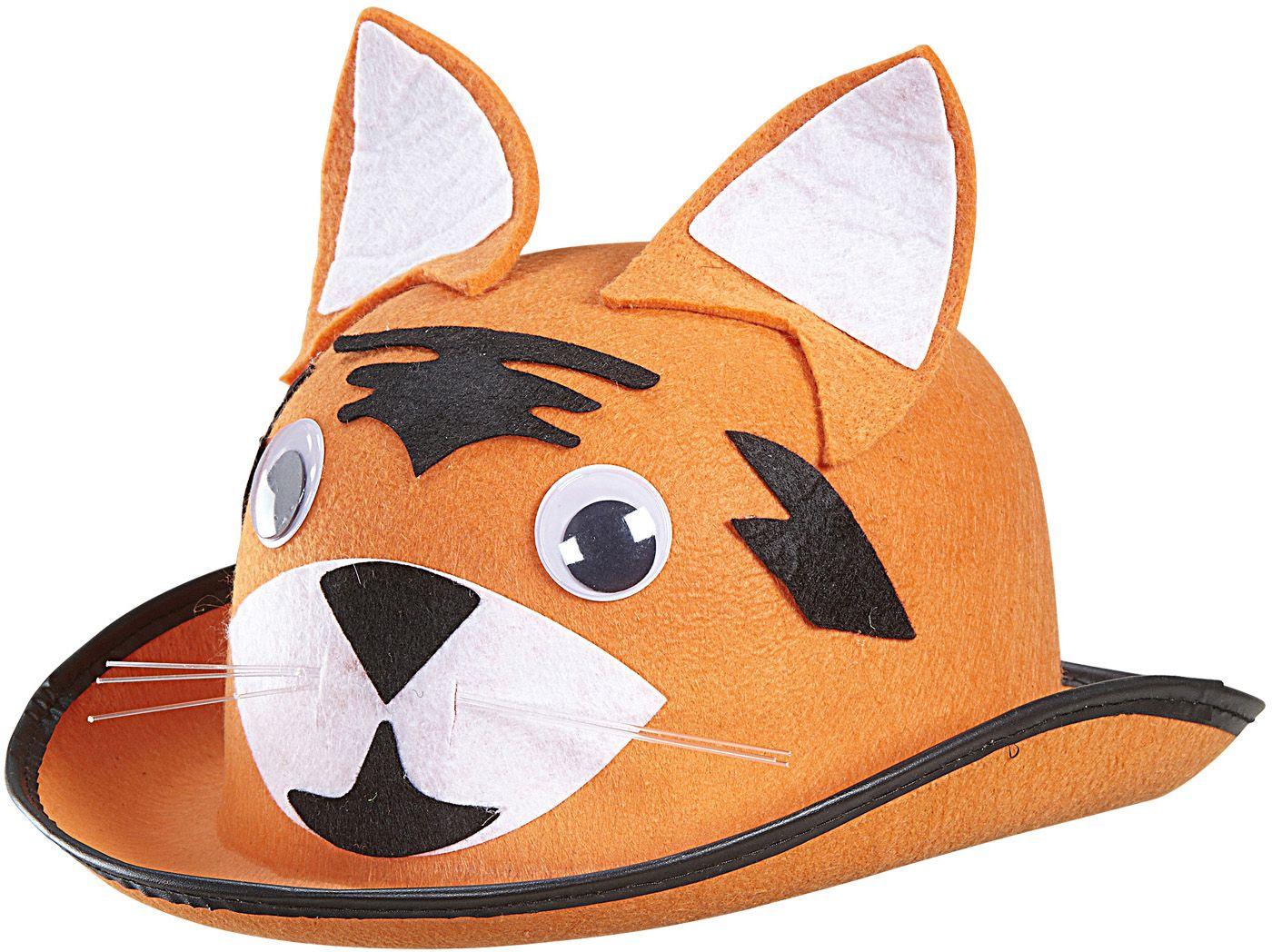 Oranje tijger hoed