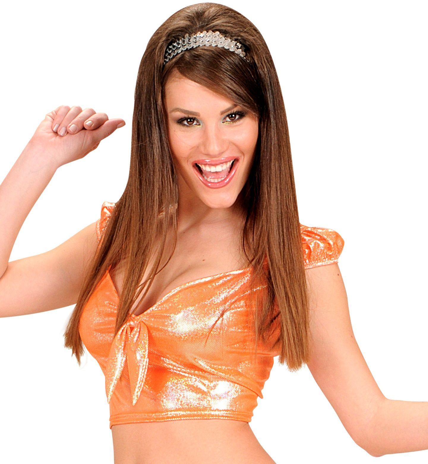 Oranje top met strik