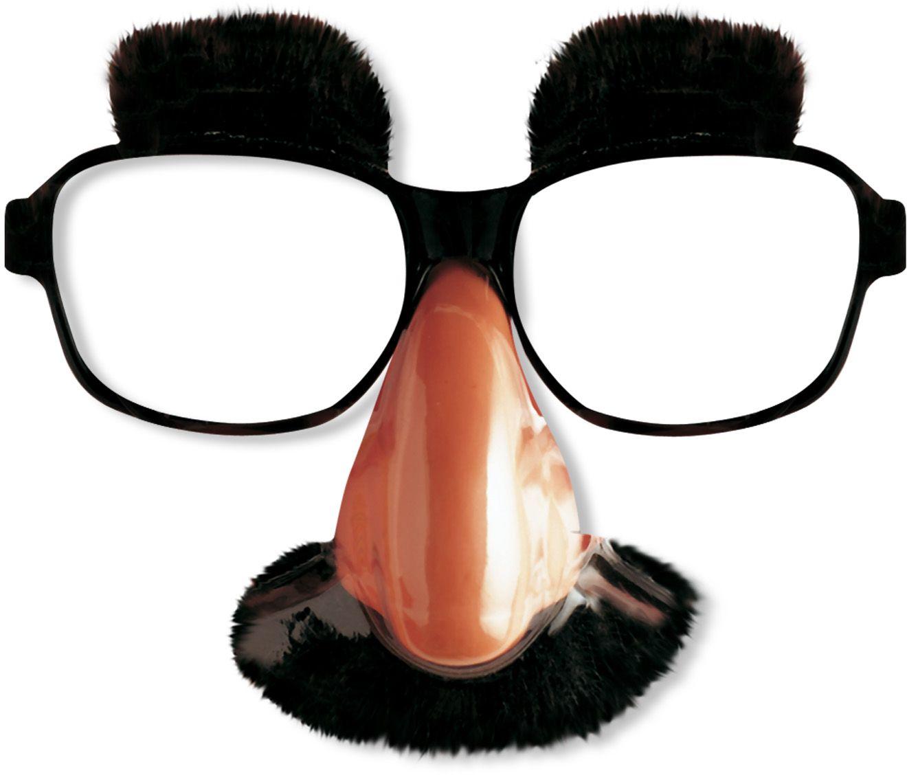 Oude opa bril met neus, snor en wenkbrauwen