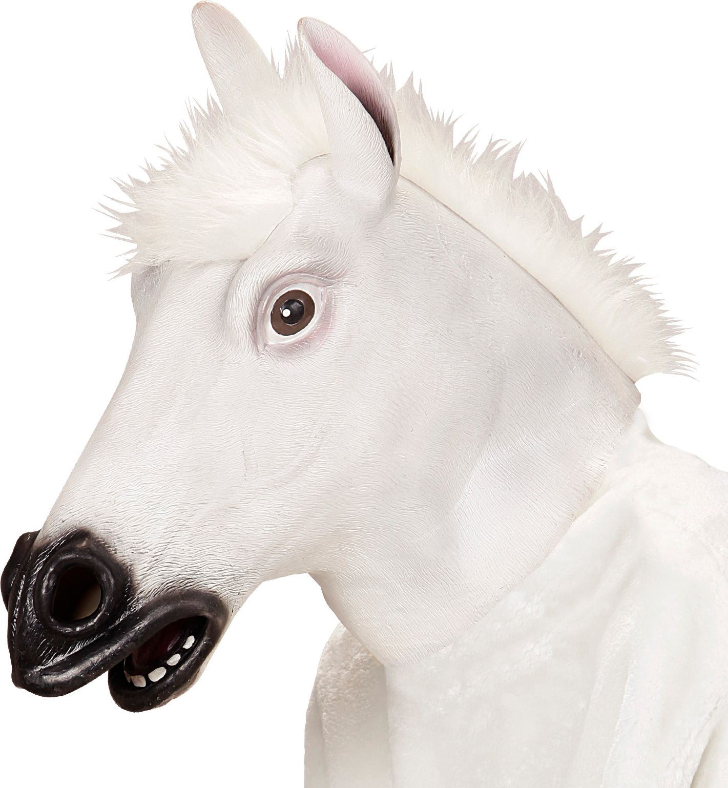 Paarden masker wit