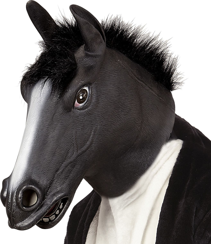 Paarden masker zwart