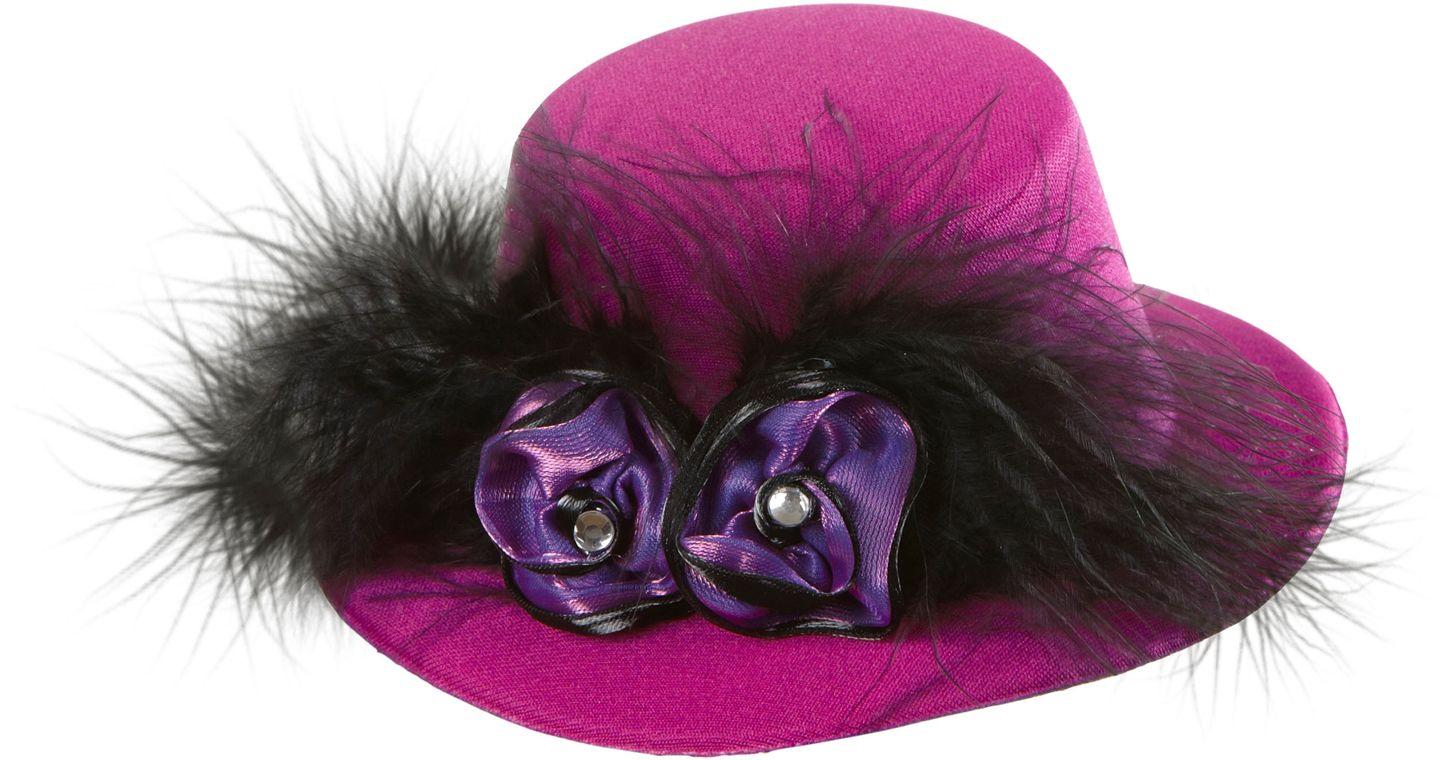 Paarse 20s mini hoge hoed