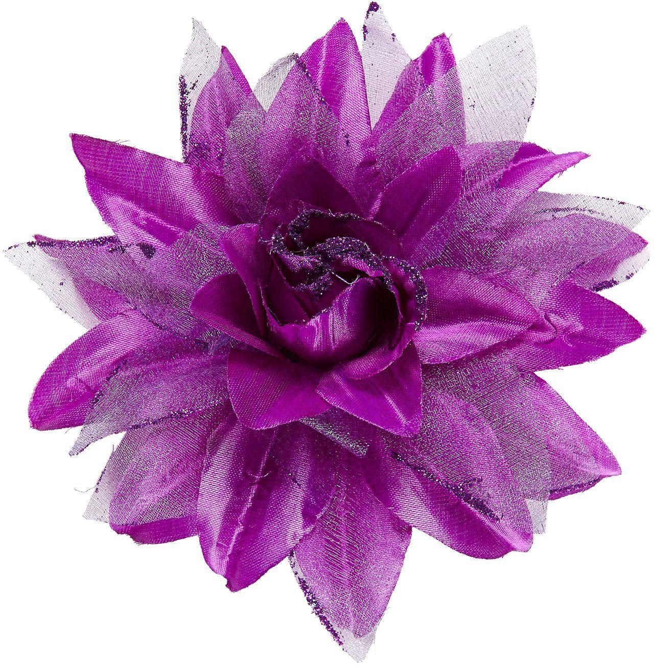 Paarse bloem haarspeld