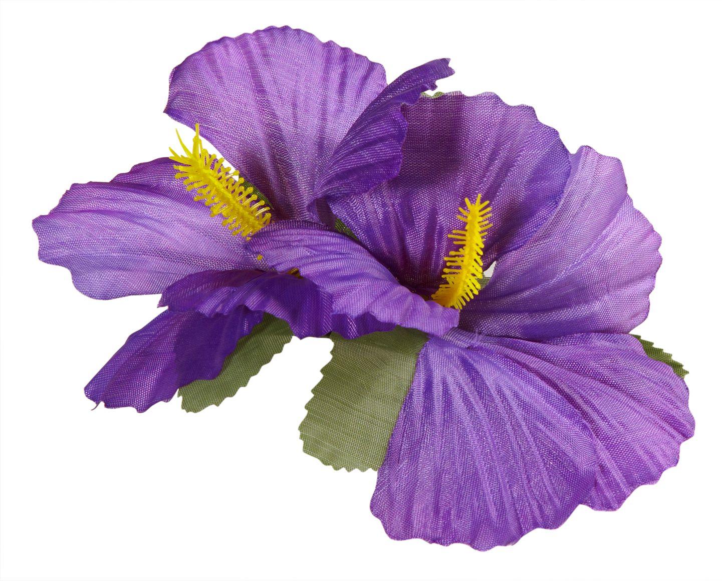 Paarse bloemen haarspeld