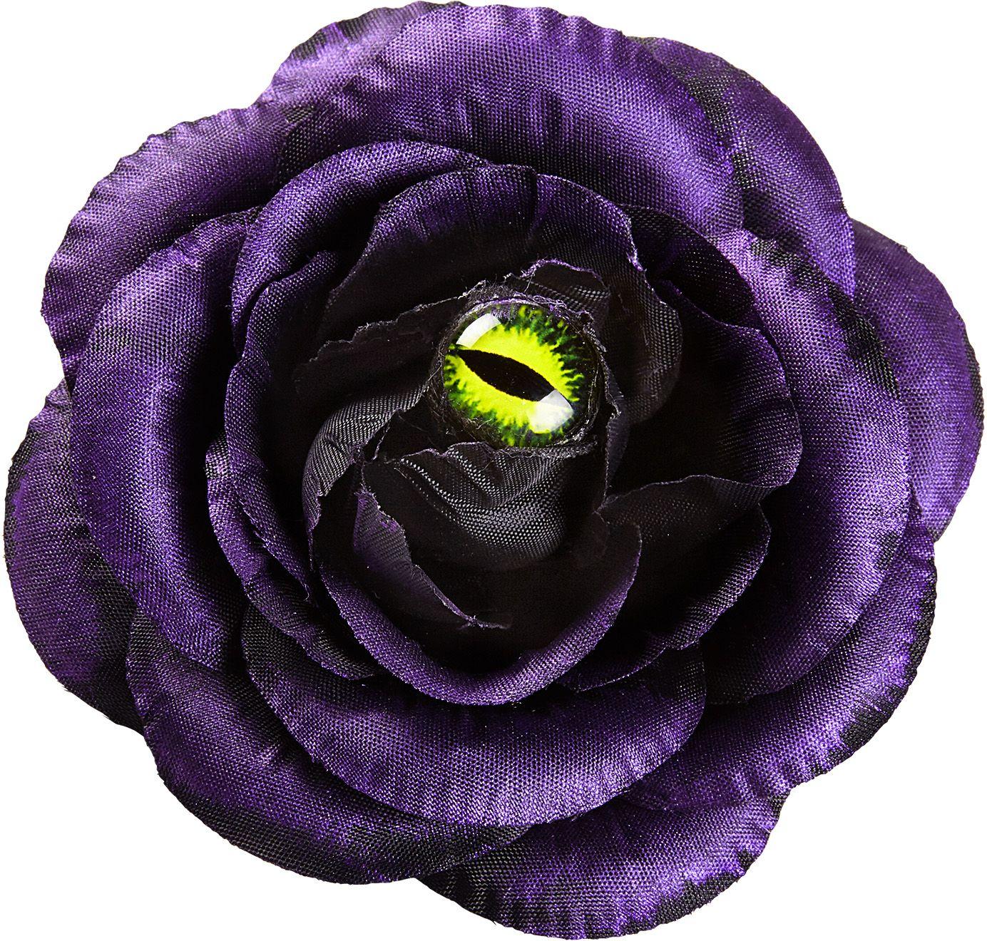 Paarse roos haarknipje met oog
