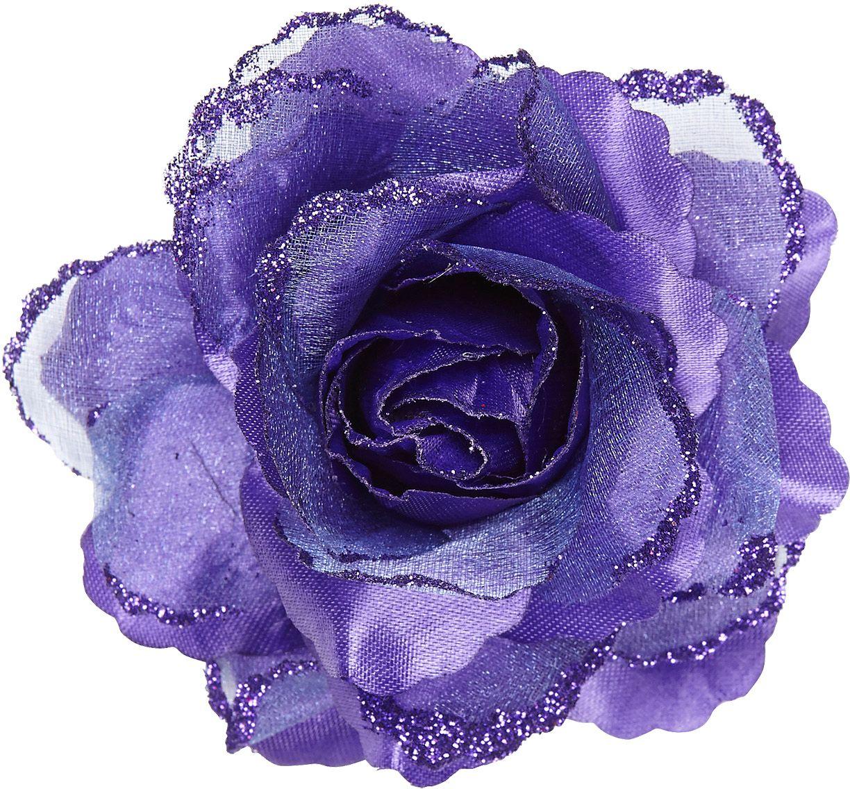 Paarse roos haarspeld