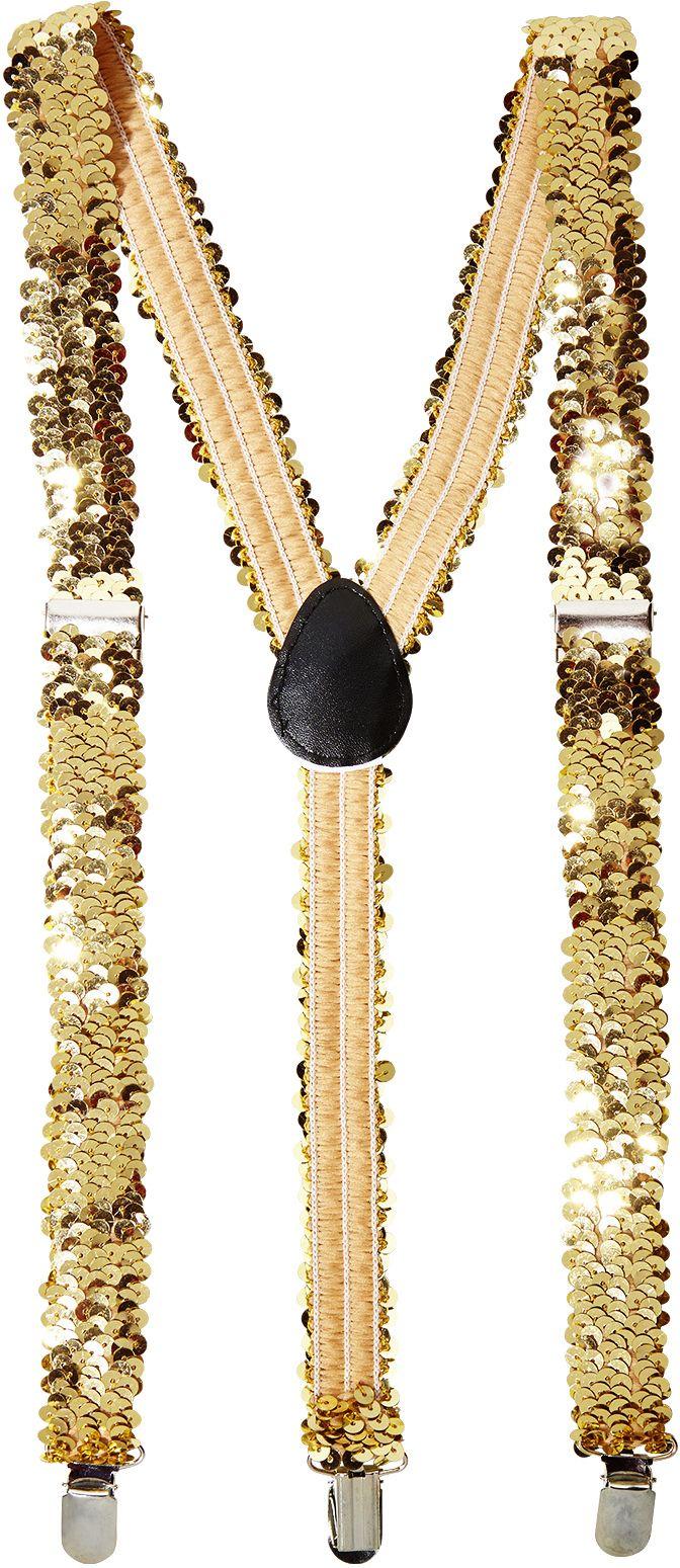 Pailletten bretels goud