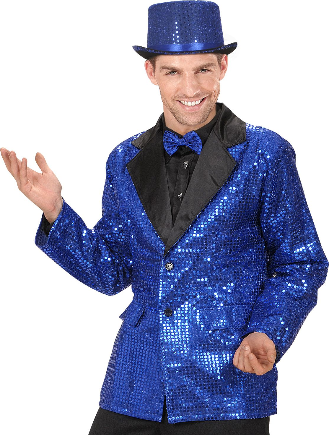 Pailletten jasje blauw