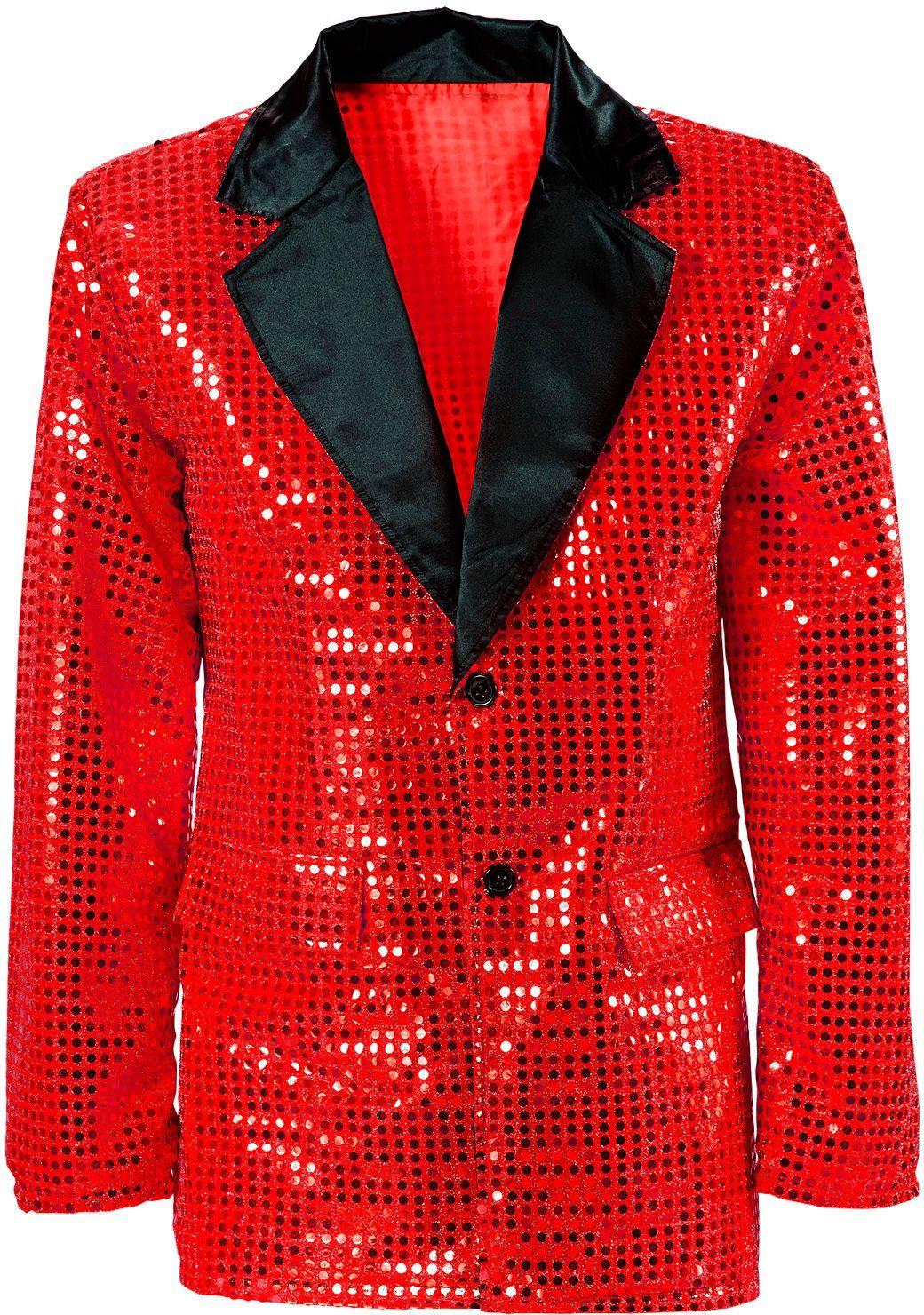 Pailletten jasje rood