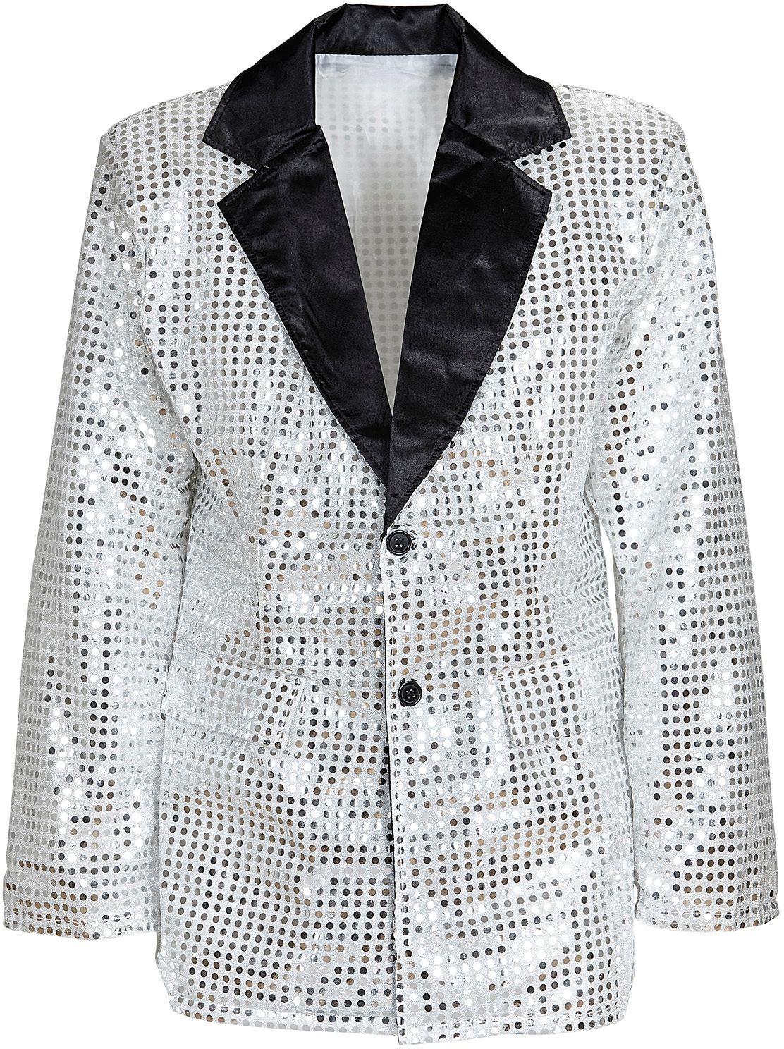 Pailletten jasje zilver