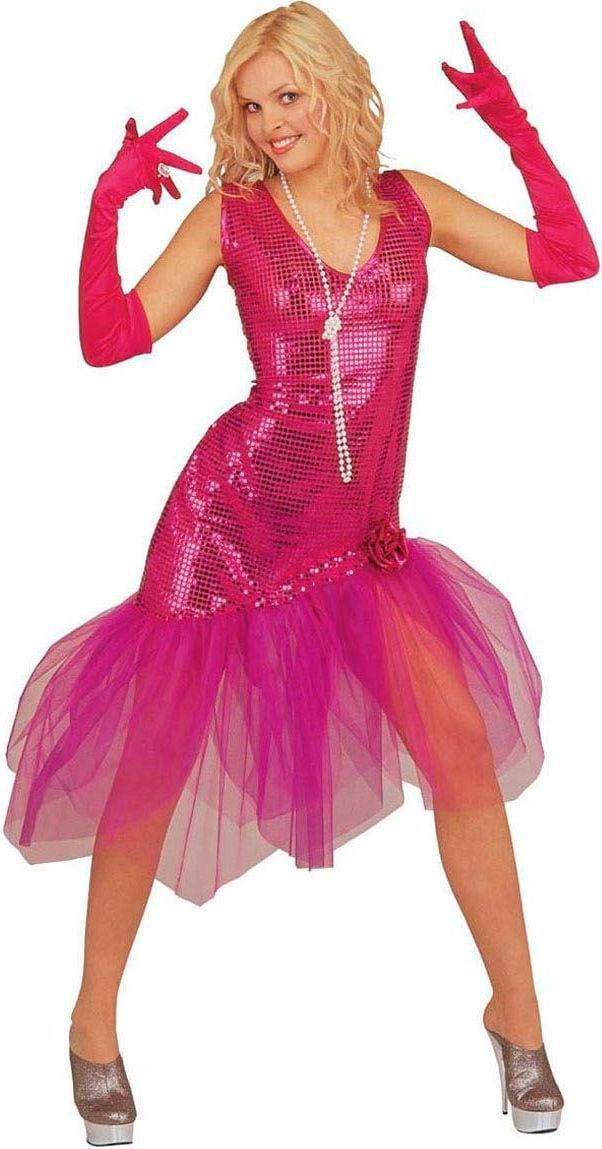 Pailletten jurk roze