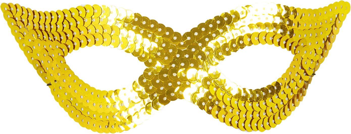 Pailletten oogmasker goud