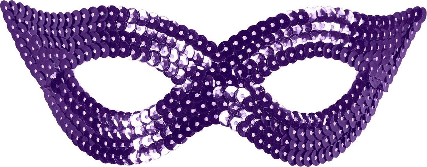 Pailletten oogmasker paars
