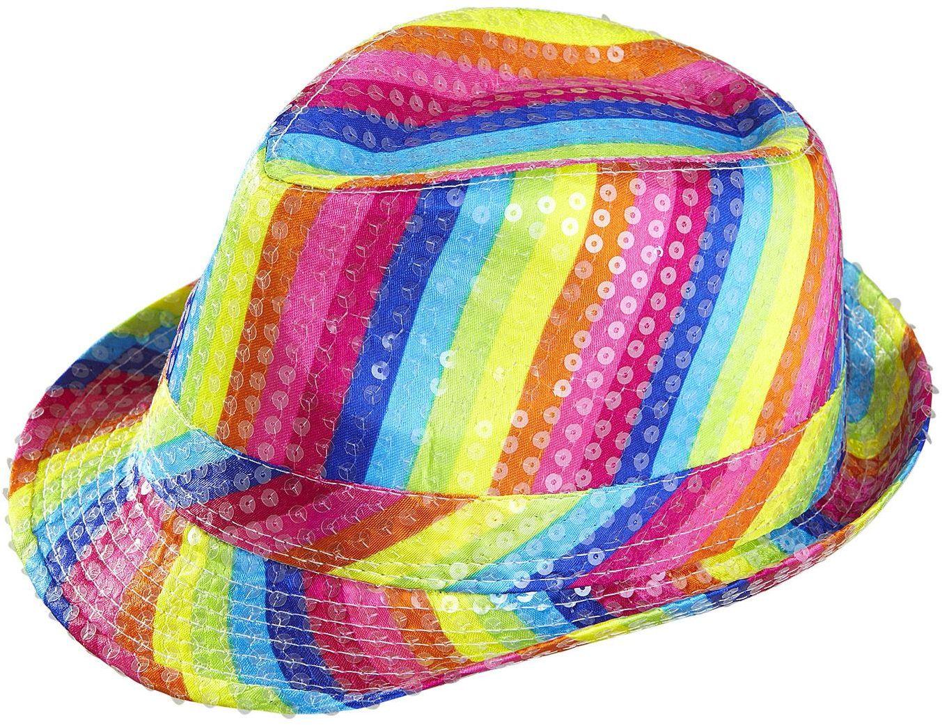 Pailletten regenboog hoed