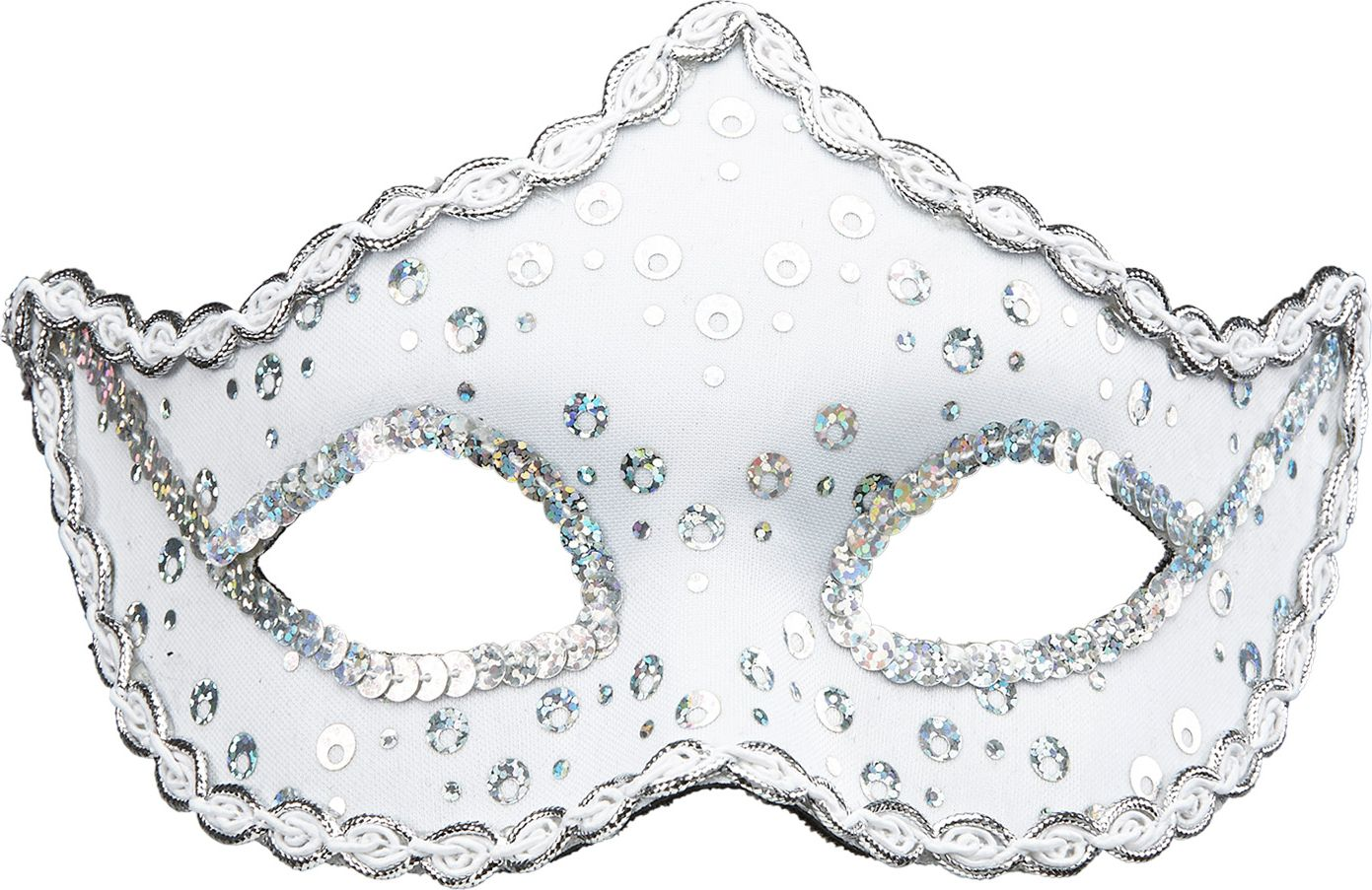 Pailletten Rialto oogmasker wit