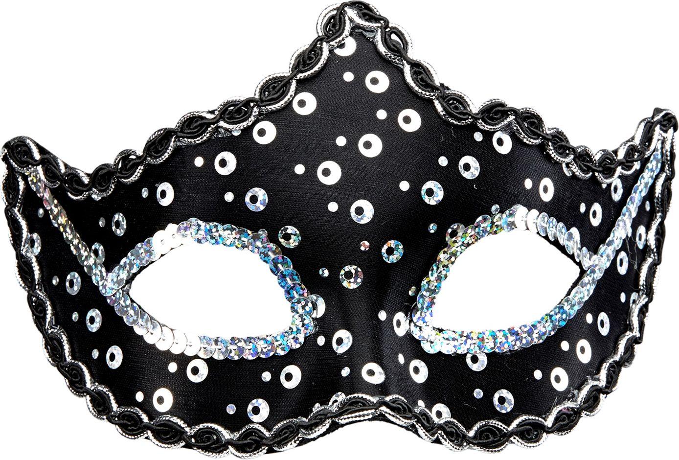 Pailletten Rialto oogmasker zwart
