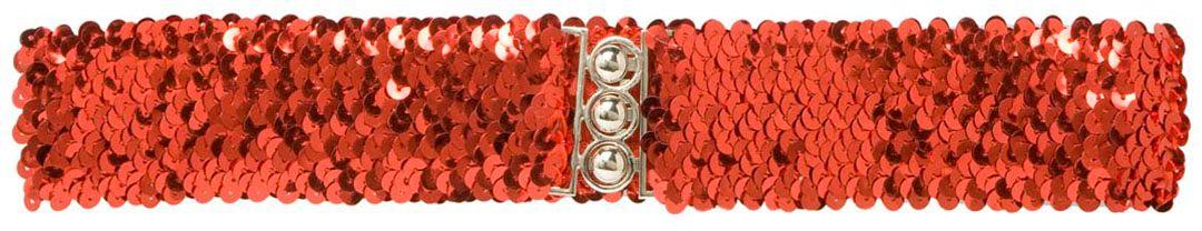 Pailletten riem dames rood