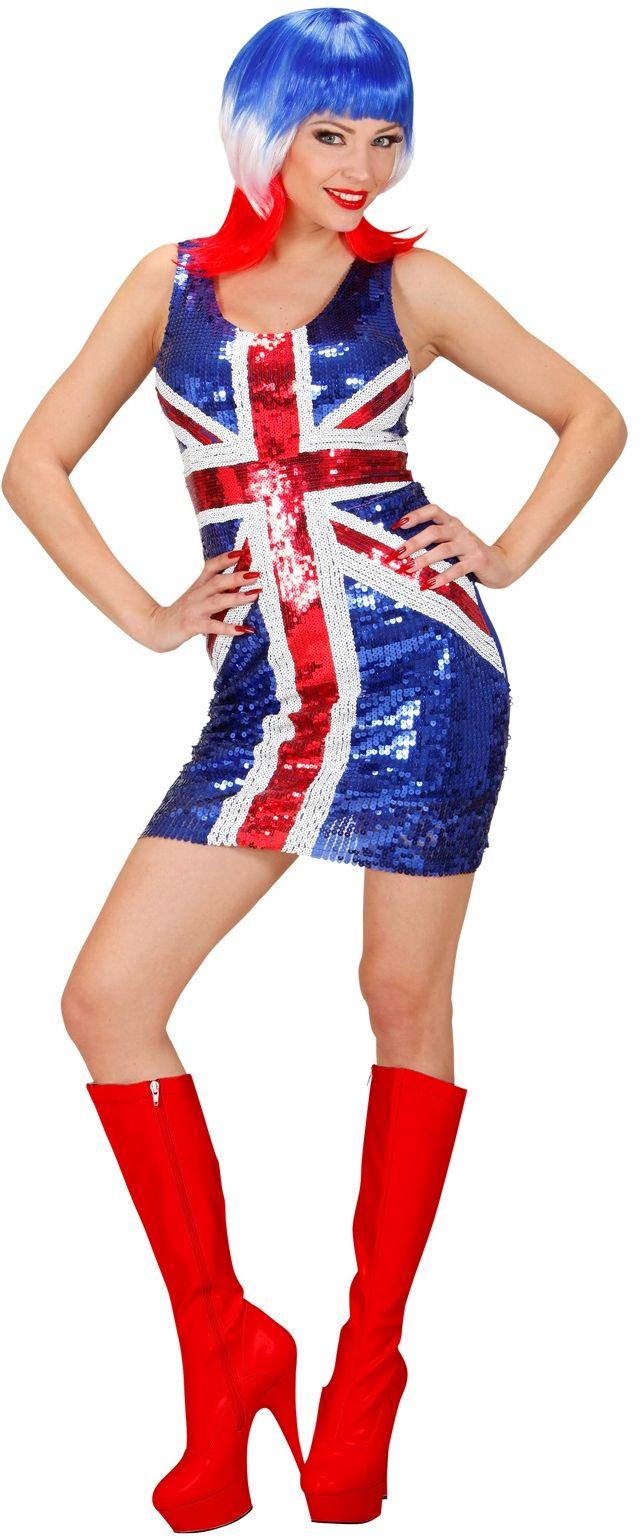Pailletten 'UK' jurk
