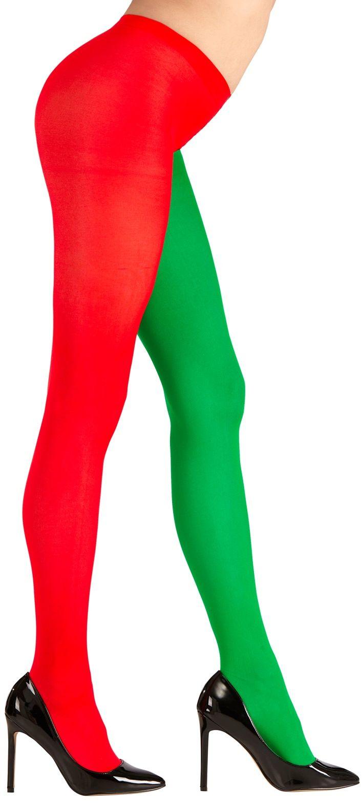 Panty rood/groen