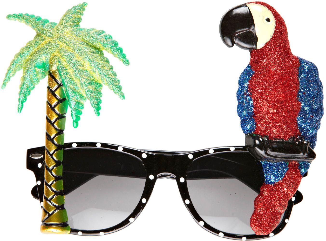 Papegaai bril met palmboom