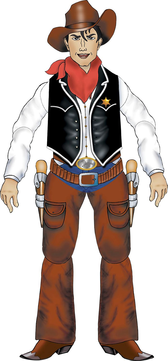 Papieren cowboy versiering