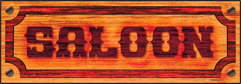 Papieren saloon bord