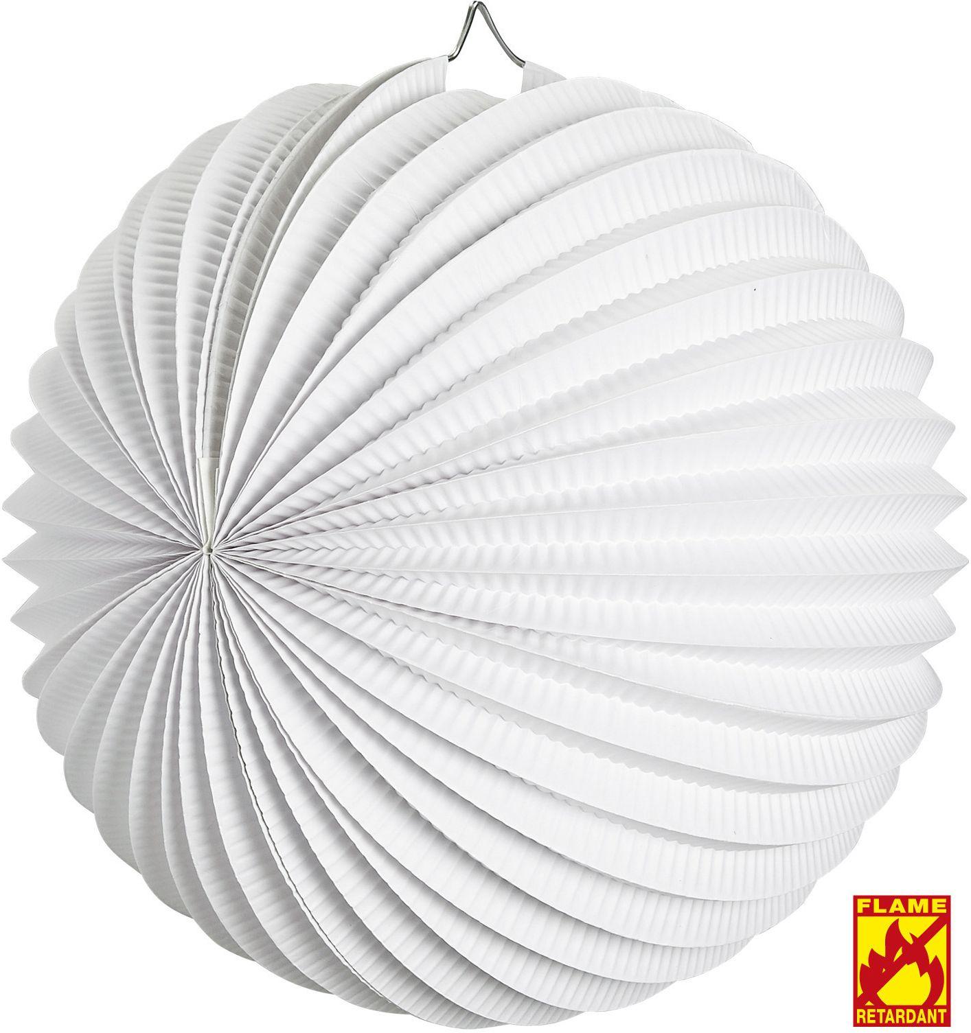Papieren witte bal