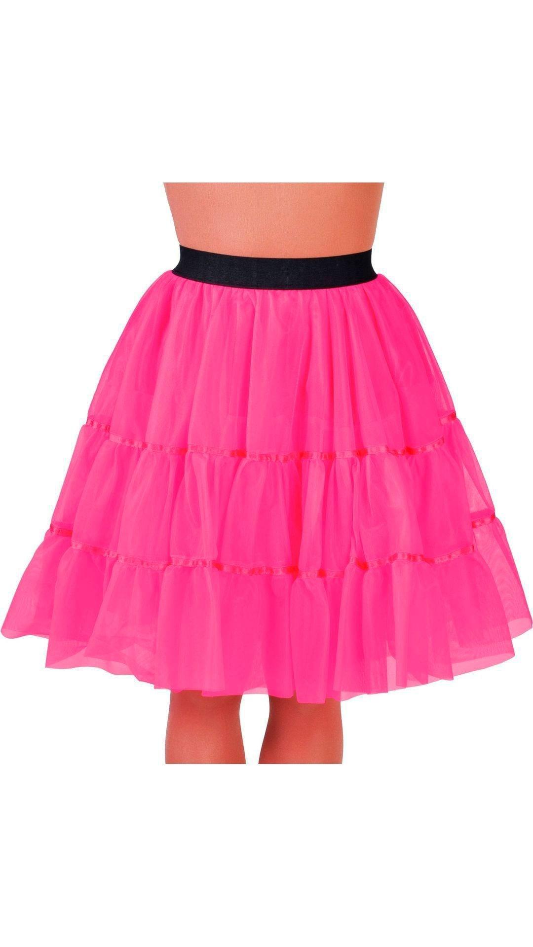 Petticoat middel lang vrouwen roze