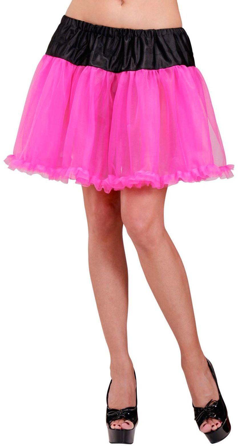 Petticoat zwart roze