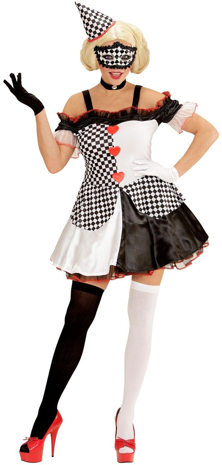 Pierrot clown kleding