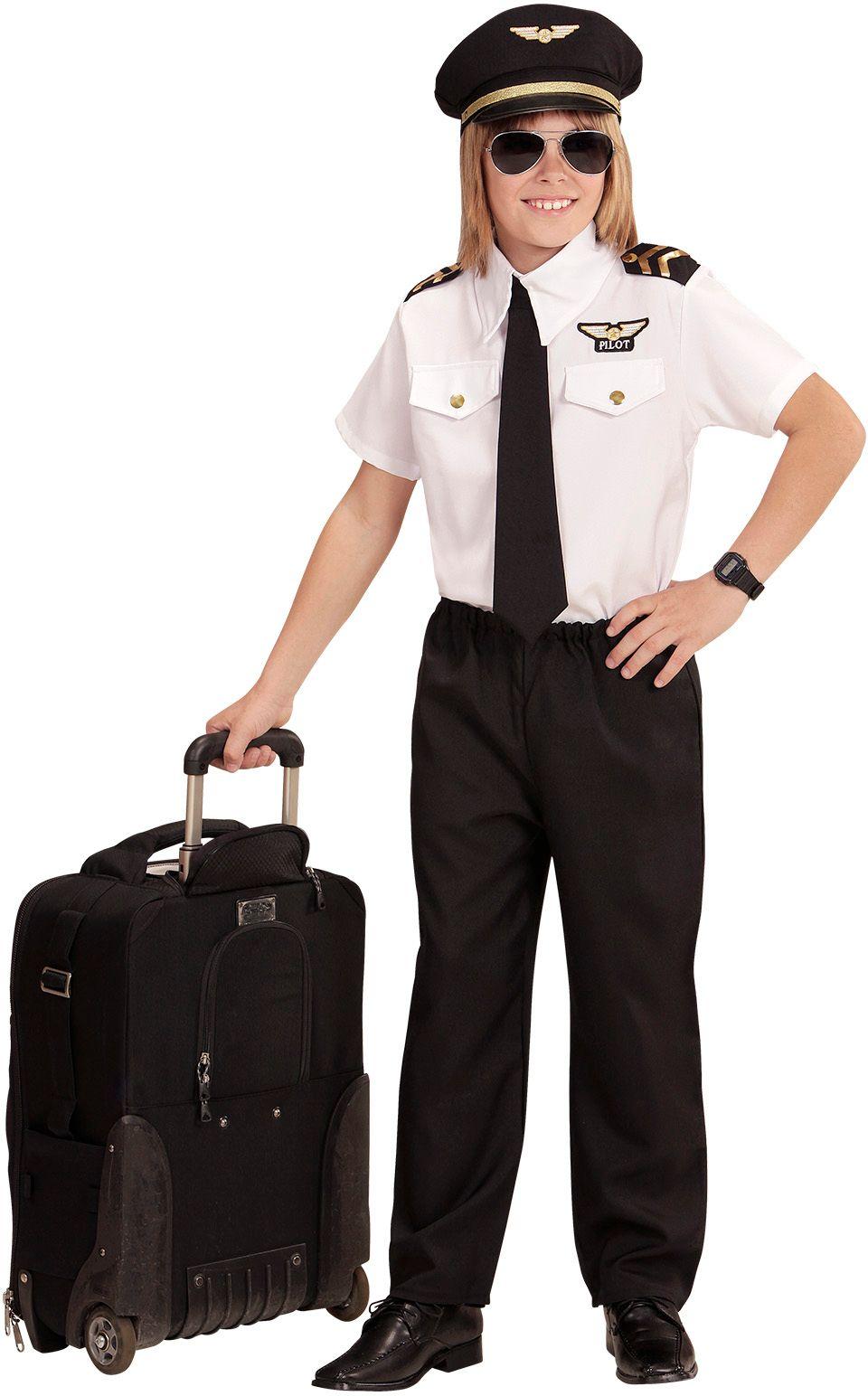 Piloten kostuum kind