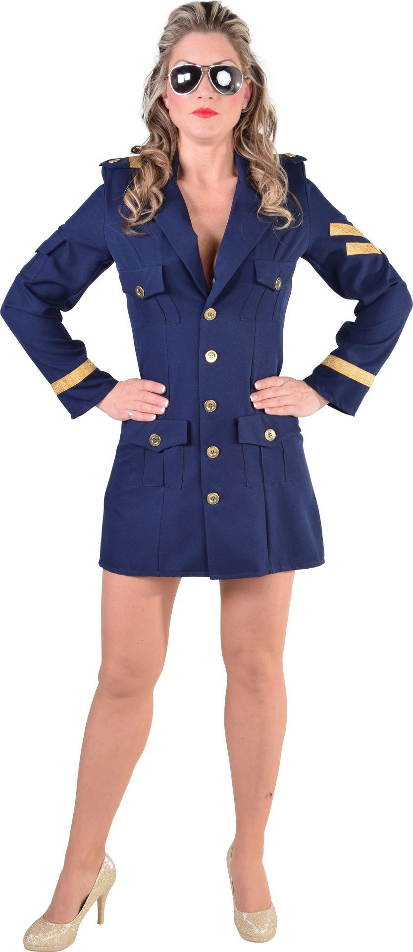 Piloten pak blauw vrouwen