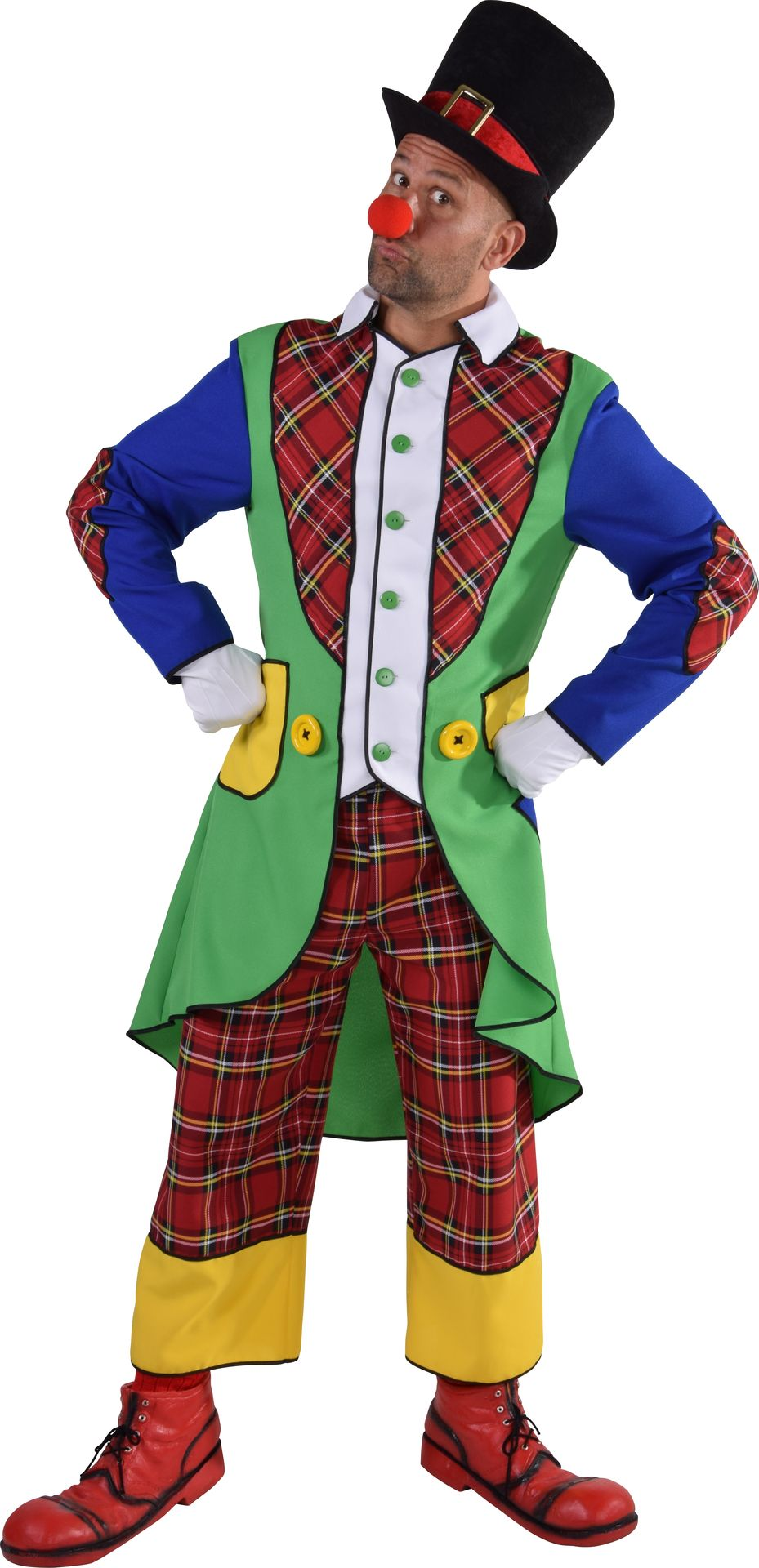 Pipo de clown kostuum heren