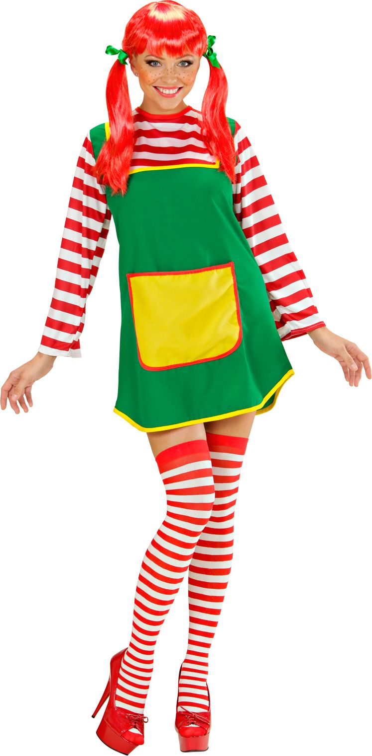 Pippi langkous kostuum