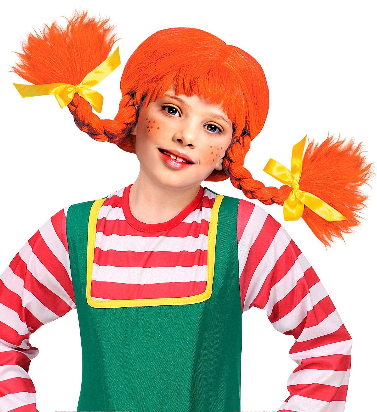 Pippi Langkous pruik rood kind