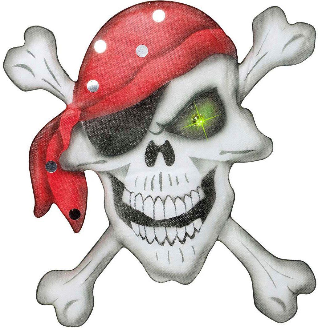 Piraten doodshoofd met bandana